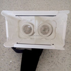 Plastic 3d virtual glasses google cardboard virtual reality white and black colour