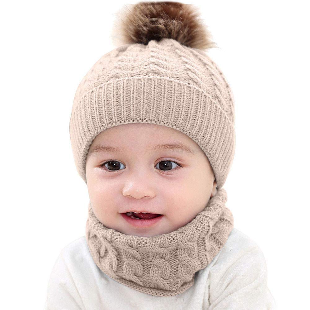 Genda 2Archer Lovely Hand Embroidered Flower Infant Baby Girls Knit Cap Beanie Hat