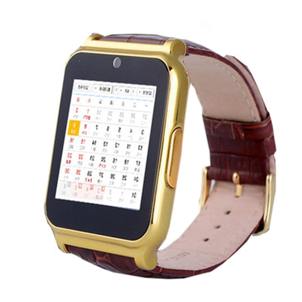 YWY Smart Watch Fitness Watch Touch Screen Music Player Camera Calendar Stopwatch Smart Bracelet Sync with Android Smartphones (Color : Gold)