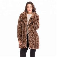 made in china top latest designs winter women women's leopard print faux fur coat
