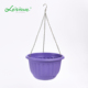 Leizisure Rope Wire Hanging Plastic Flowerpots Wholesale Garden and Indoor Cheap Ball Plant Planter Pots