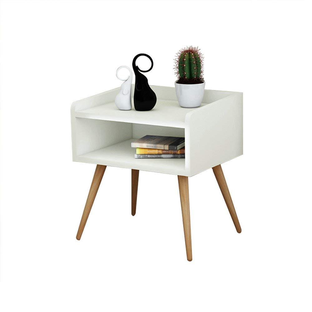 Emma Home Nightstand Solid Wood Legs Bedside Cabinet Side Bedside Table Drawer Cabinet Corner Cabinet Storage Cabinet (Color : B)