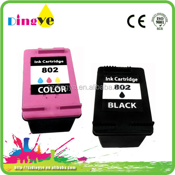 chip reset compatible printer ink cartridge for hp 802
