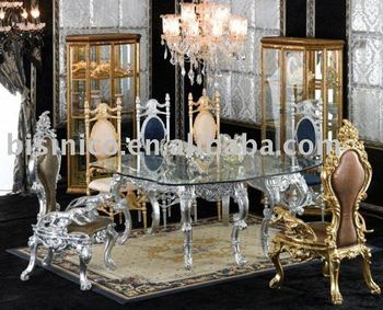 New Antique Hand Carving Luxury Dining Room Furniture Set