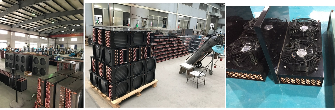 Heat Exchanger With Evaporator And Condenser, Big size for cold room, Small size for showcase, display...