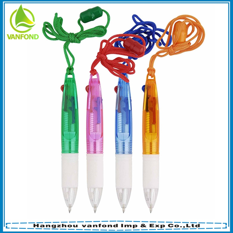 Novelty promotional cheap multicolor hanging ball pen wholesale