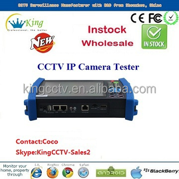 2014 new laptop led screen cctv ip camera tester DC12V PTZ tester wifi (HK-TM806IPC)