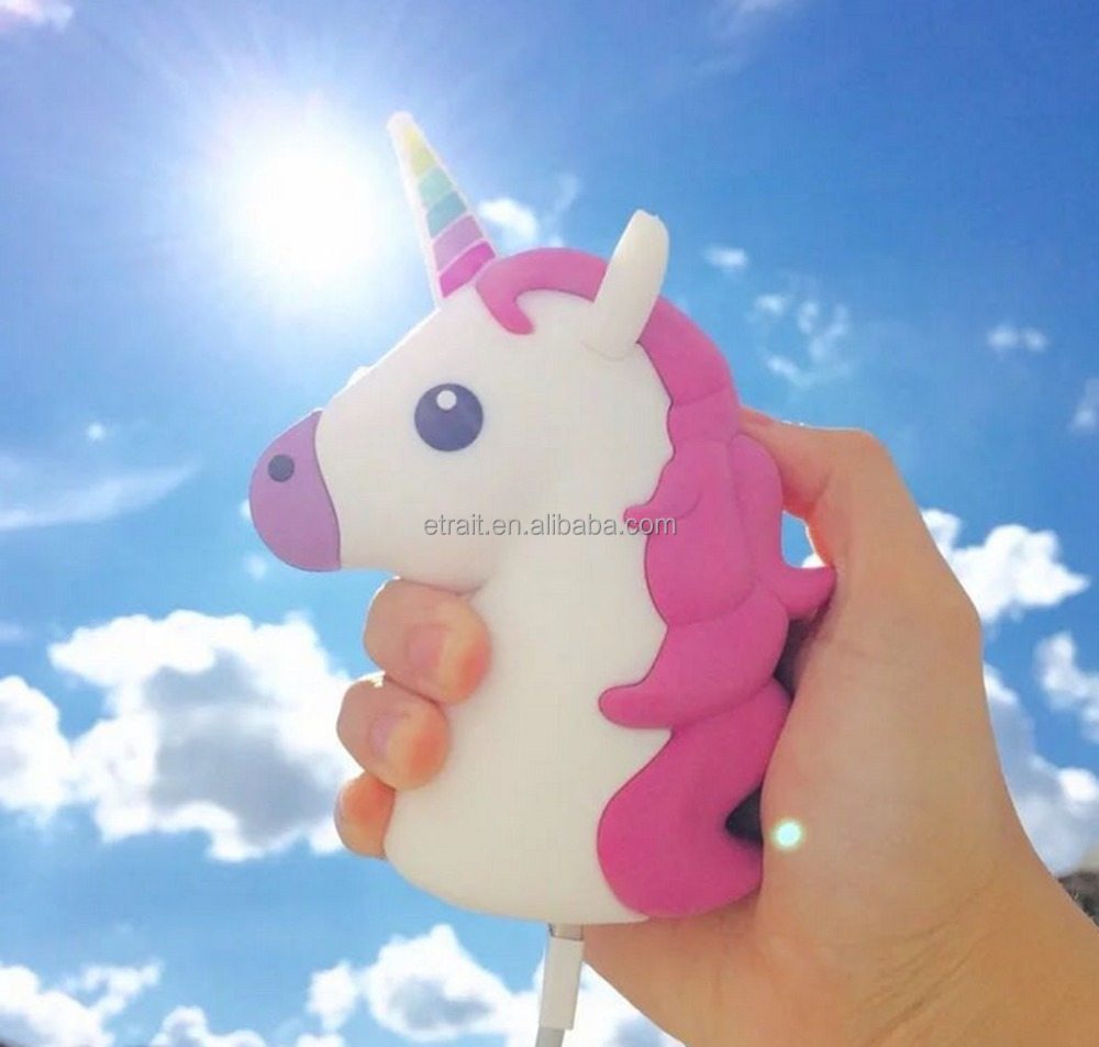Cute Portable External Battery Unicorn Power Bank Emoji 9c27dd2d5