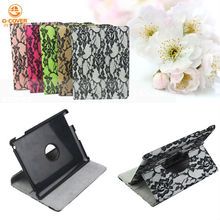 lady's lace flower case,For ipad case (smart cover, with strong magnetic, wake/sleep function)