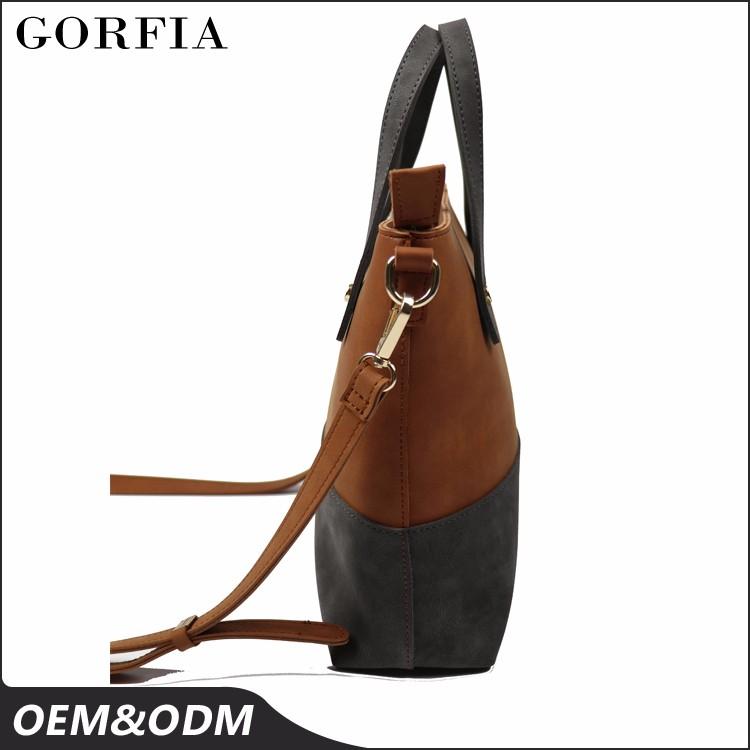 Welcome sample order ! contrast color shoulder trend brand latest design ladies handbag