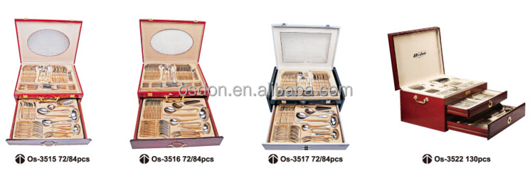 Gold plated sale on Middle East market 72 pieces stainless steel cutlery set  sc 1 st  Guangdong Osdon Industrial Co. Ltd. - Alibaba & Gold plated sale on Middle East market 72 pieces stainless steel ...