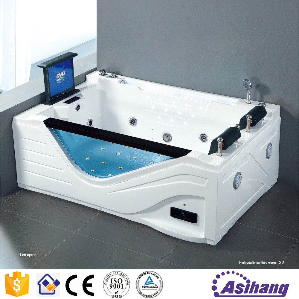 Square Jet Whirlpool Bathtub With Tv For Shower Bath - Buy Shower ...