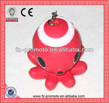 Pulpo con forma de bola de la pu anti stress ball