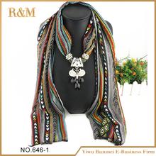 Cadena de joyería colgante de la bufanda de la bufanda de venta en línea de alta