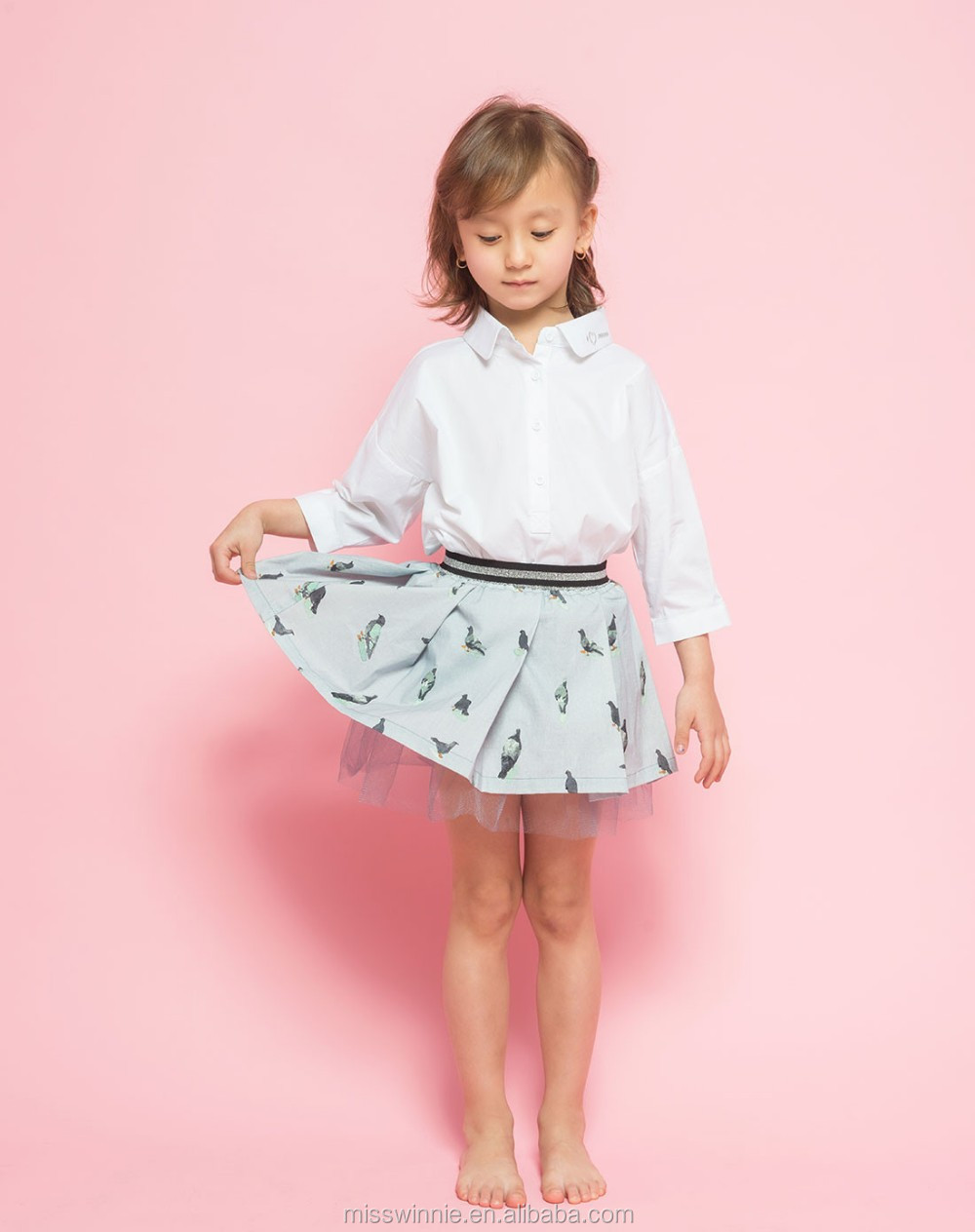 China supplier wholesale latest long tops designs girls elegant kids clothes girls top
