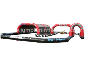 Go Kart Inflatable Track customize/Inflatable race track for bumper cars