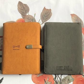2018 new arrive A5 Leather notebook power bank 8000mAh capacity