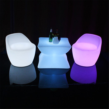 led party chairs modern lounge outdoor led furniture set sectional sofas chair table with lighting