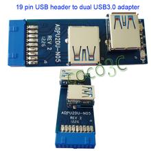 Free Shipping I Tpye USB 3.0 Hub 19pin USB 3.0 header to Dual USB3.0 A Female Port Converter Card USB3.0 Adapter
