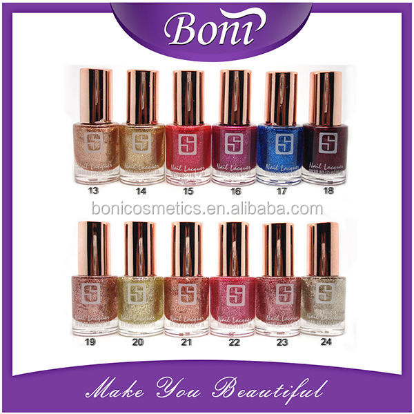 Hot sale !!! charming shape bottle OEM candy color nail polish