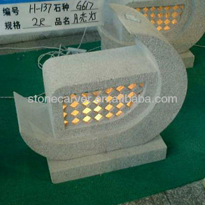 Japanese Stone LED Lantern For Sale