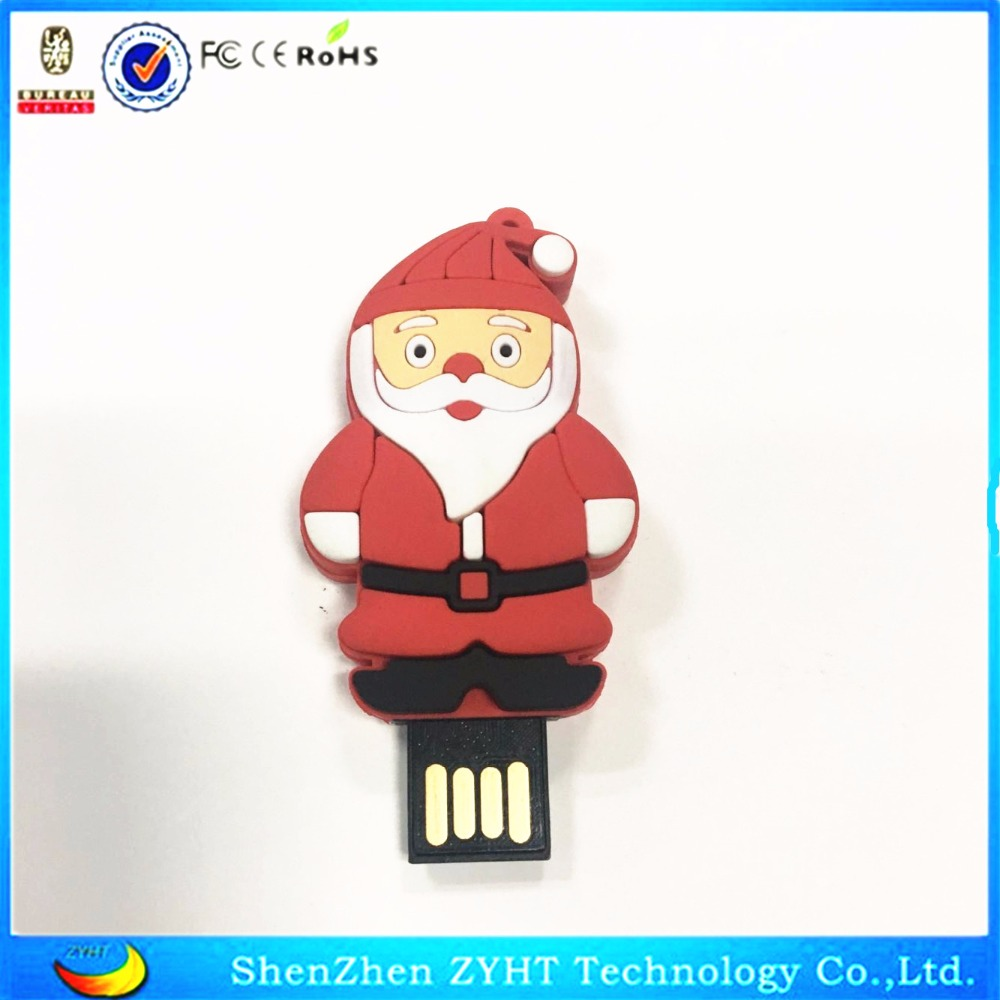 Newest santa claus USB Flash Drive 64GB 32GB 16GB 8GB 128MB U Disk USB 2.0 Flash Memory Stick Pen/Thumbs Drive h