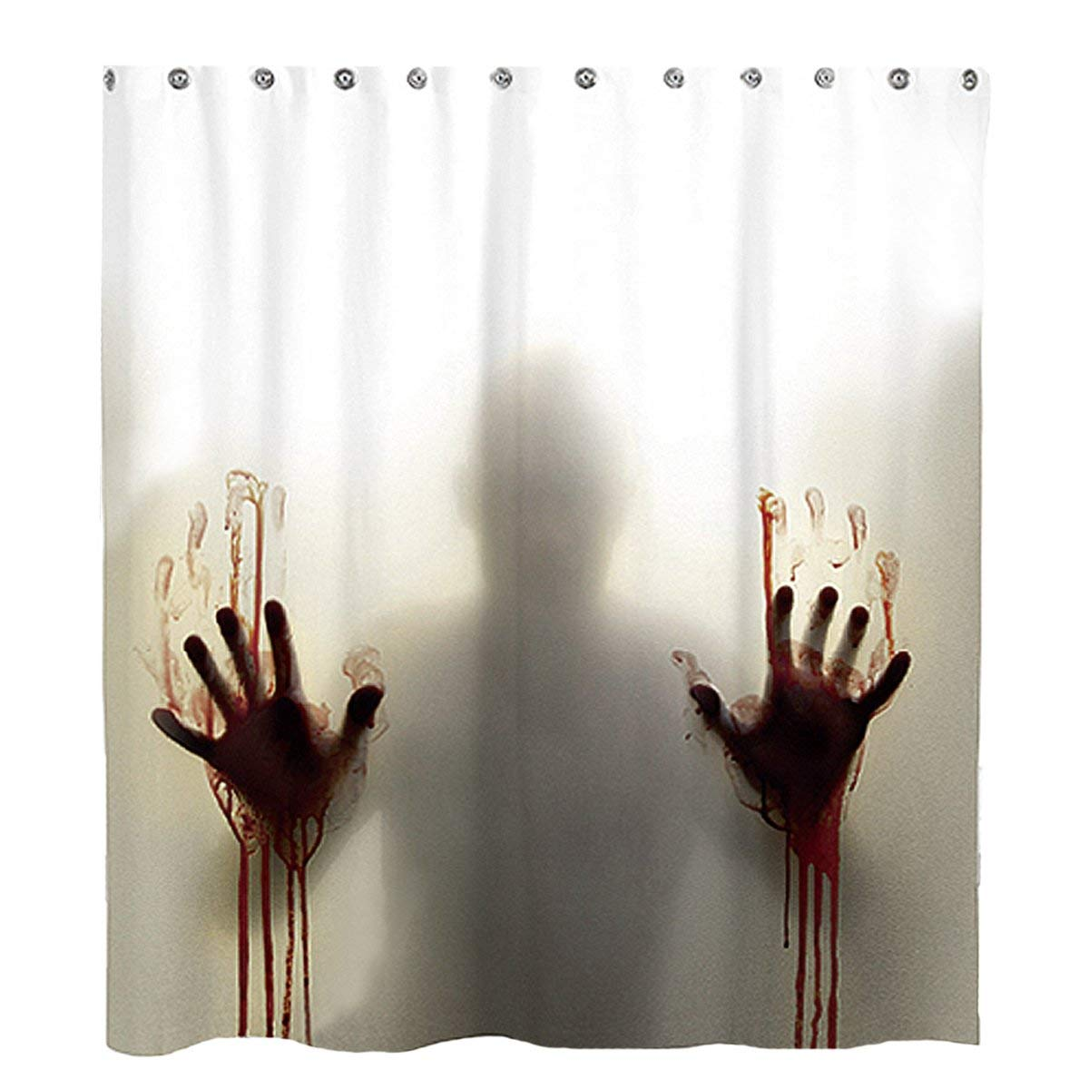Get Quotations Felice Polyester Fabric Waterproof Bathroom Shower Curtain Spooky Bloody Scary Theme Bath