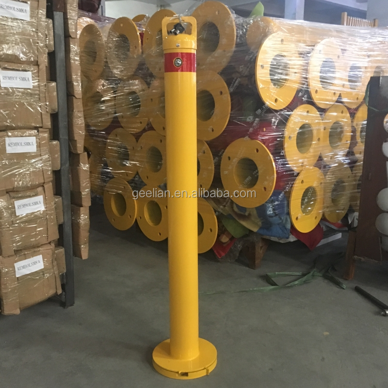 Removable Traffic  Road Marker Posts Steel Bollard warning post
