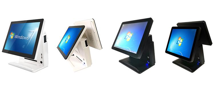 En iyi pos sistemleri Dayanıklı OEM/ODM 15.6 inç satış noktası LCD gerçek düz kapasitif dokunmatik ekran windows7 pos terminalleri satılık