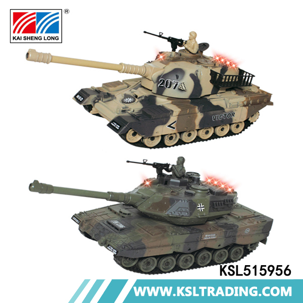 Hot selling German leopard infrared battle kids toys plastic rc tank