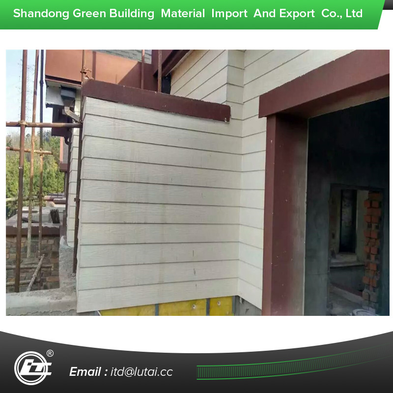 wood texture external cement board siding panel