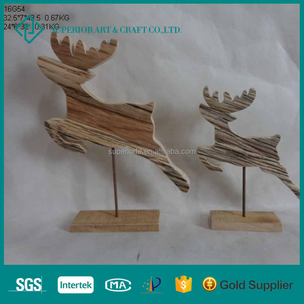Christmas Wood Reindeer Decorations Crafts