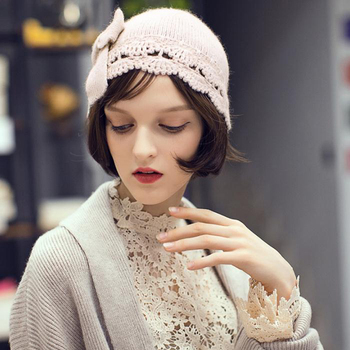 5cd0263d46a Lady French Beret Wool Beret Chic Beanie Winter Hat - Buy Chic ...