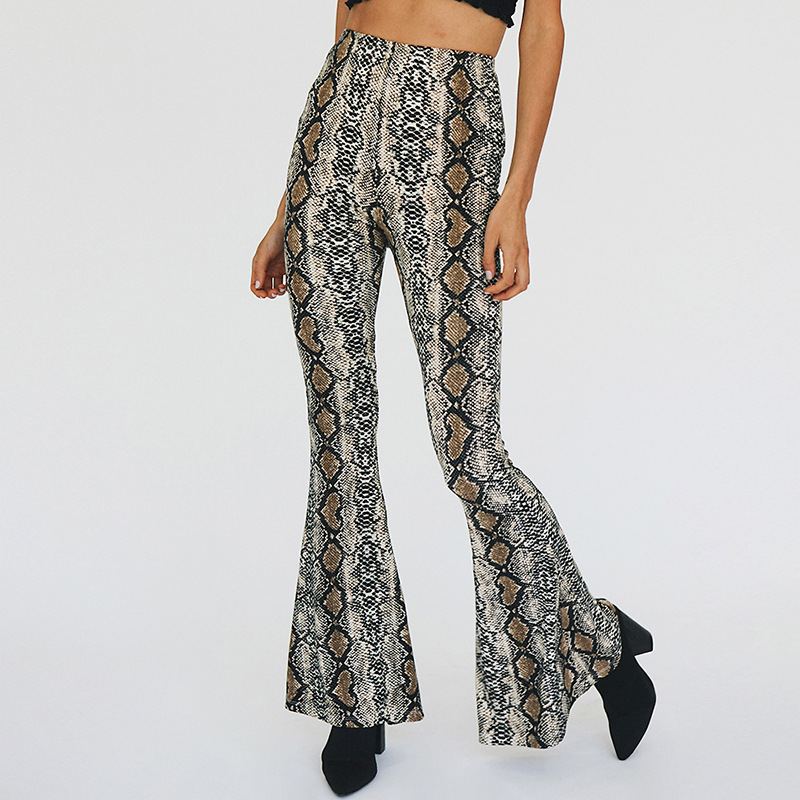 Afrikanische Animal Print Hose Frauen Sexy Bell Bottom Pants