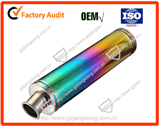 Popular exhaust muffler/stainless steel muffler/super quiet generator muffler for CG125/DY100/100-420