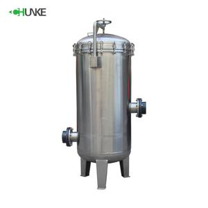 Stainless steel SUS304 SUS316 water filter cartridge housing in drum filter with different diameter size