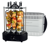 6 skewers EG-06T with timer new fashion automatic electric vertical rotating bbq kebab grill