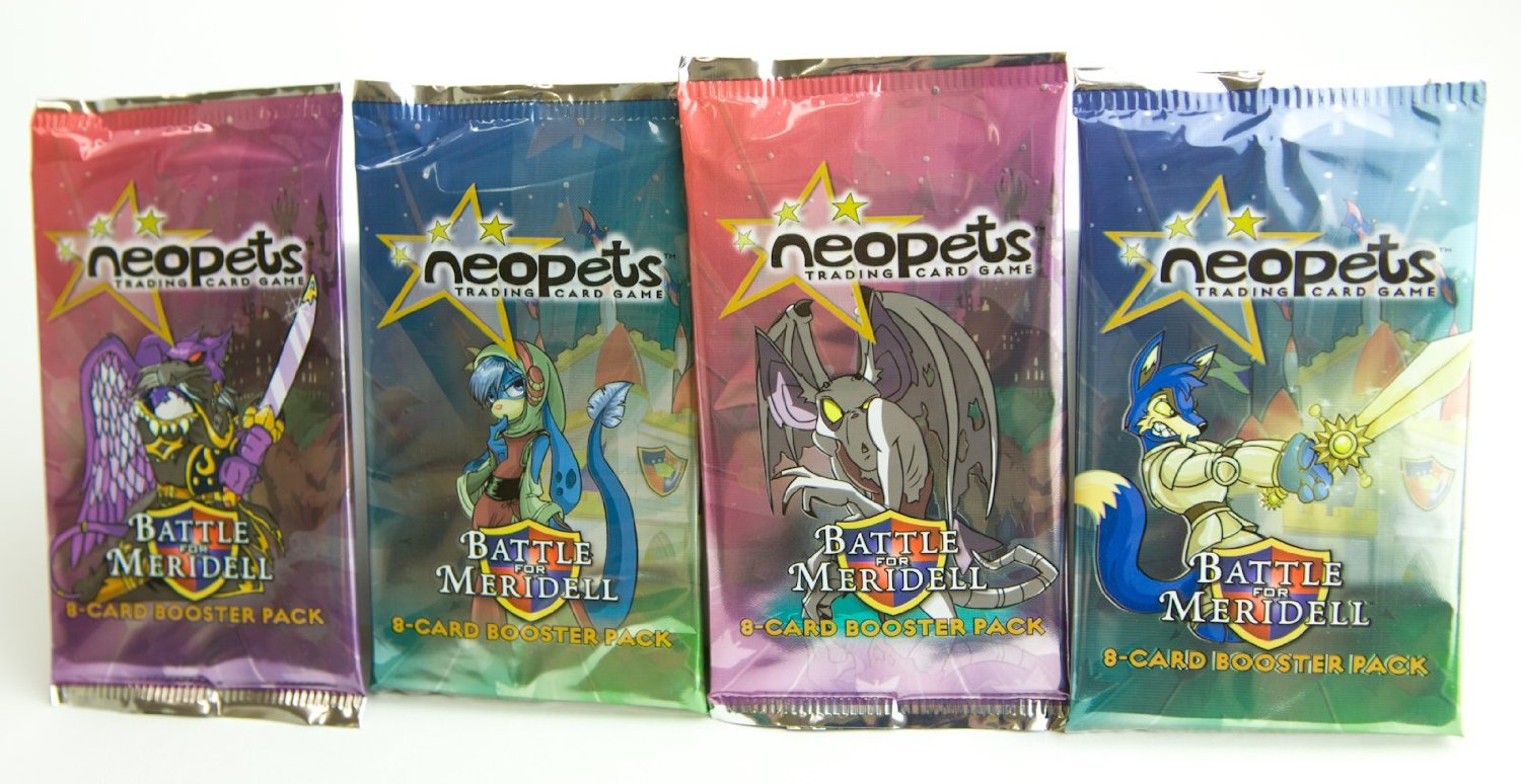 Neopets Battle for Meridell Trading Card Game (4 booster packs) & Buy Neopets Deluxe Portable Pocket Player MERIDELL in Cheap Price on ...