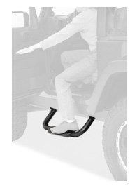 Bestop 49313-01 HighRock 4X4 Black Slider Step Set for Wrangler JK (except Unlimited)