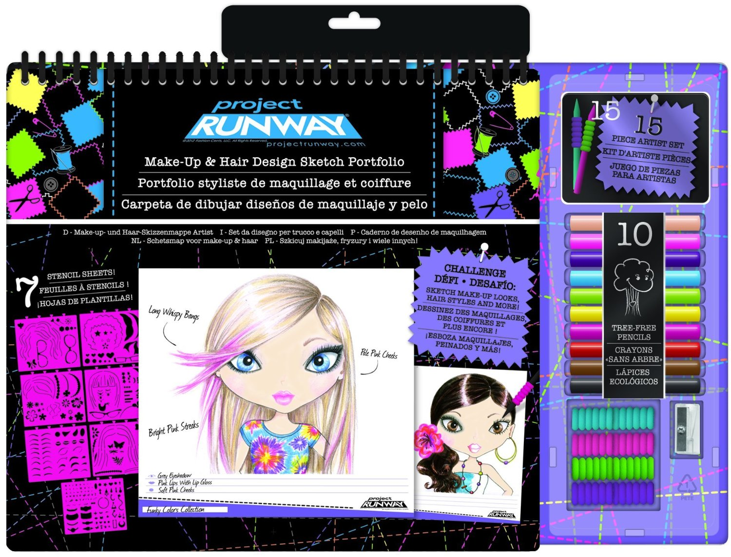 Buy Project Runway Fashion Design Sketch Portfolio With Tree Free Colored Pencils In Cheap Price On Alibaba Com