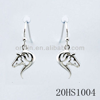 Sterling Silver Horse Earring Equestrian Jewelry In Earrings Animal