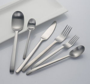 Hotel silver international cutlery flatware sets food grade silverware
