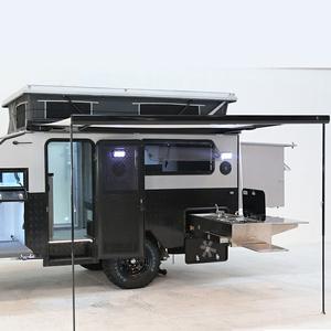 Pop up and slide out 12ft Hybrid Off-road Caravan