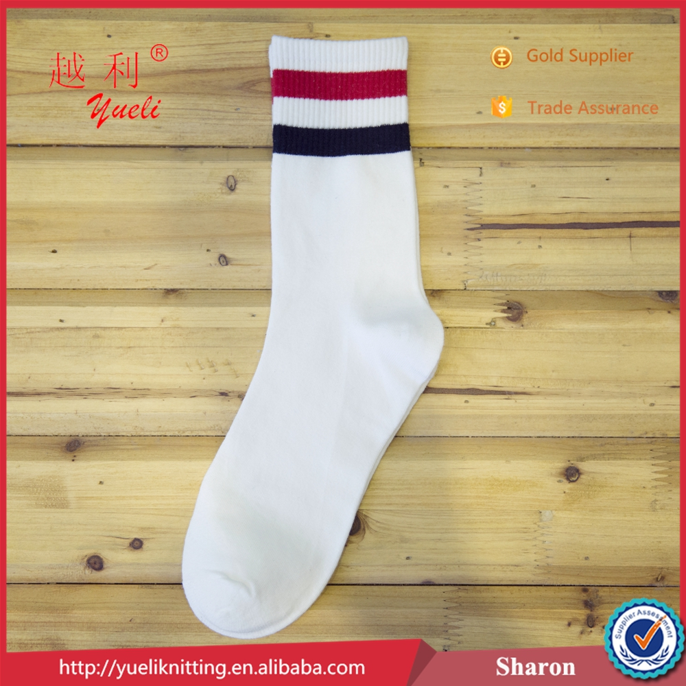 Take into sock display sock with fashionable style stripes tube sock