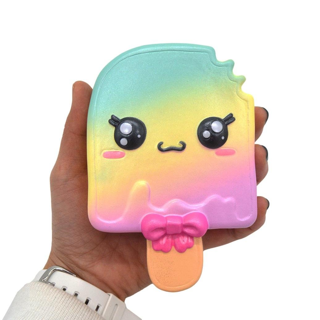 13cm Galaxy Ice Cream Squishy Toys Jumbo Prime Cheap, Kawaii Mochi Scented Non Toxic Healing Fun Charm Slow Rising Squishy Squeeze Stress Relief Toys For Kids Boys Girls Autism Adults (B)