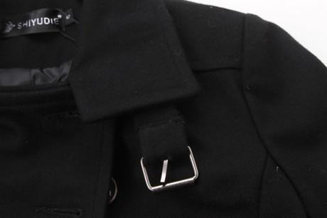 Новый 2014 зимняя одежда женщин мода мандарин воротник двубортный Большой размер элегантный теплый стройная длинный линь пальто WJ1583