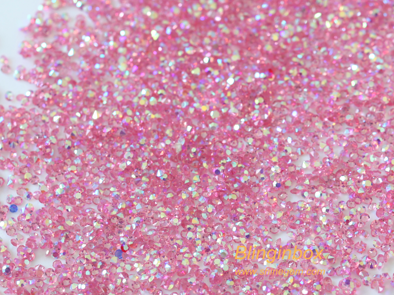 Wholesale high quality 1.1mm champagne AB point back rhinestone crystal pixie for nail art