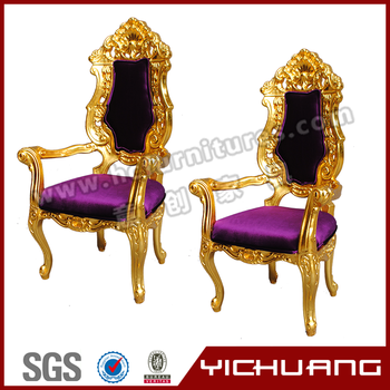 the grand elegant king golden and purpe crown chair yc-k01 - buy