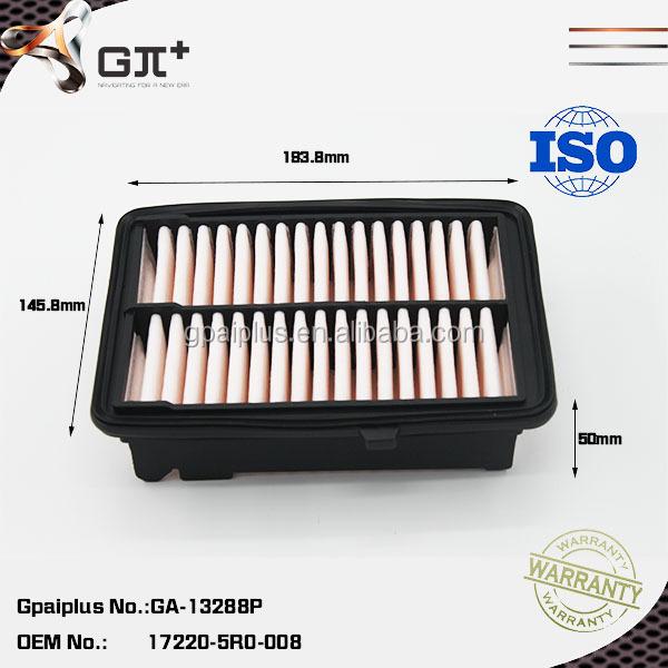Car Parts Air Filter For Honda 17220-5r0-008 Filter Air