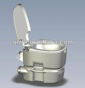 western plastic one piece portable toilet bowl for disabled people